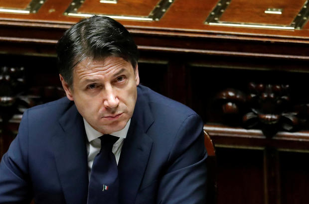 FILE PHOTO: Italian Prime Minister Giuseppe Conte attends a session of the lower house of parliament on the coronavirus disease (COVID-19) in Rome