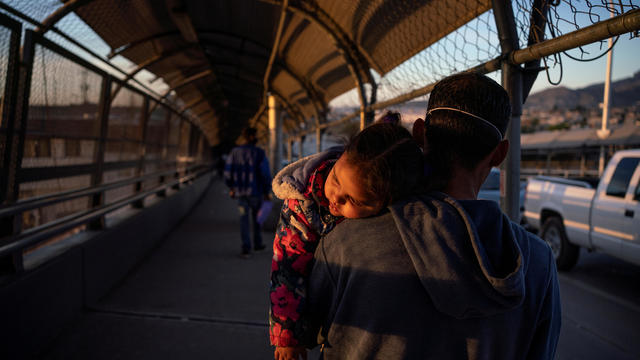 Migrants cross the border to reschedule their immigration hearings amid the coronavirus disease (COVID-19) outbreak in Ciudad Juarez