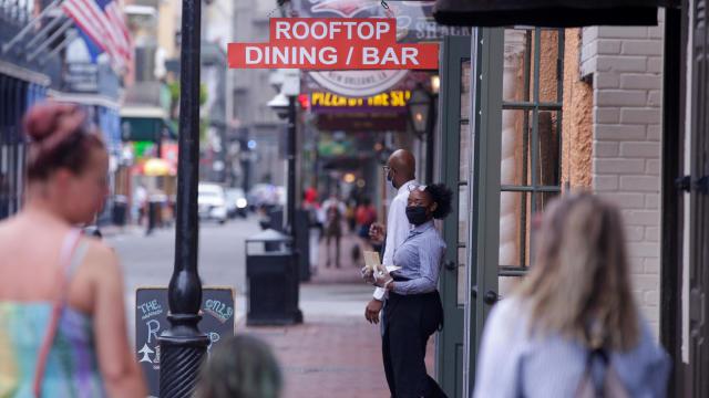 Louisiana reopens: Smaller crowds on Bourbon Street