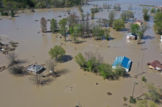 Two Dams Burst Flooding Town Of Midland, Michigan