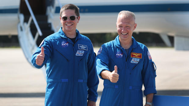 NASA Astronauts Arrive At Kennedy Space Center Ahead Of Space-X Launch Test