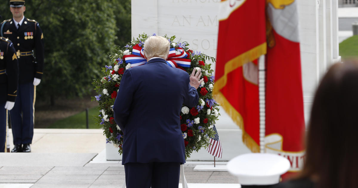Trump observes Memorial Day with two visits