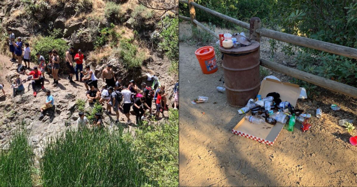 """California waterfall forced to close after crowds leave human waste and """"multiple truckloads of trash"""""""