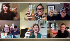 Cheers to the virtual cocktail party