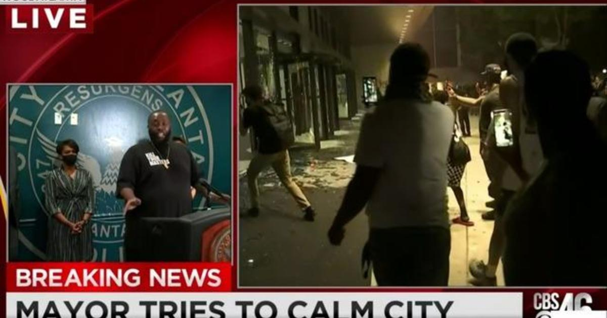 Rapper Killer Mike urges calm amid violence in Atlanta
