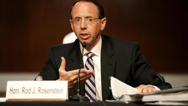 Senate Hears Testimony From Former Deputy Attorney General Rod Rosenstein On Crossfire Hurricane Investigation