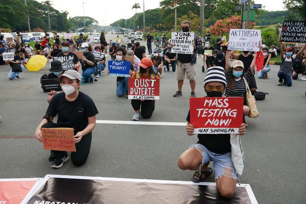 Filipinos Protest Against Duterte's Anti-Terror Bill In Manila