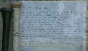 A 10-year-old's heartfelt plea to Babe Ruth to bring back baseball
