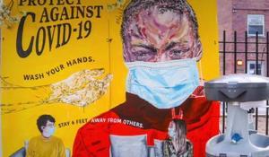 Community activists paint messages of hope