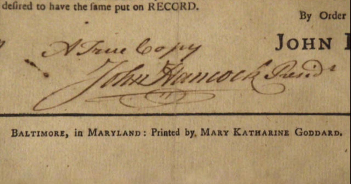 """Meet Mary Katherine Goddard — the only woman who """"signed"""" the Declaration of Independence"""