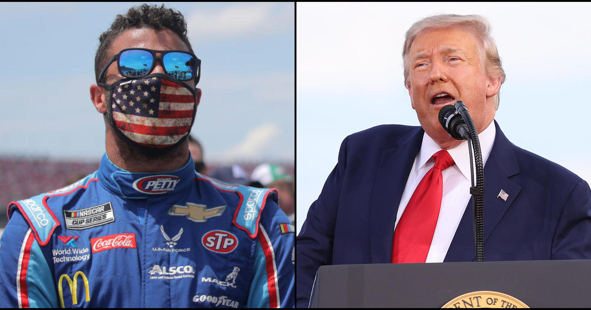 "NASCAR's Bubba Wallace hits back at Trump, calls out ""HATE from the POTUS"" - CBS News"