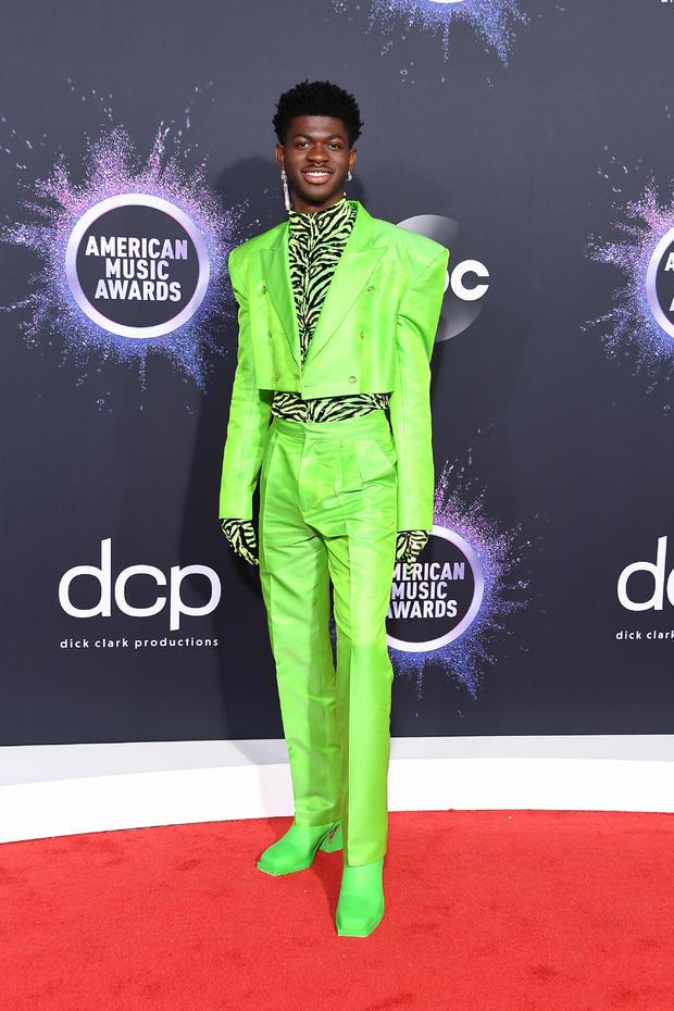 Lil Nas X: Zebra stripes and neon green