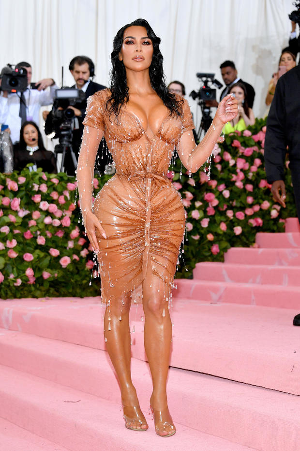Kim Kardashian West: Corseted and covered in crystals