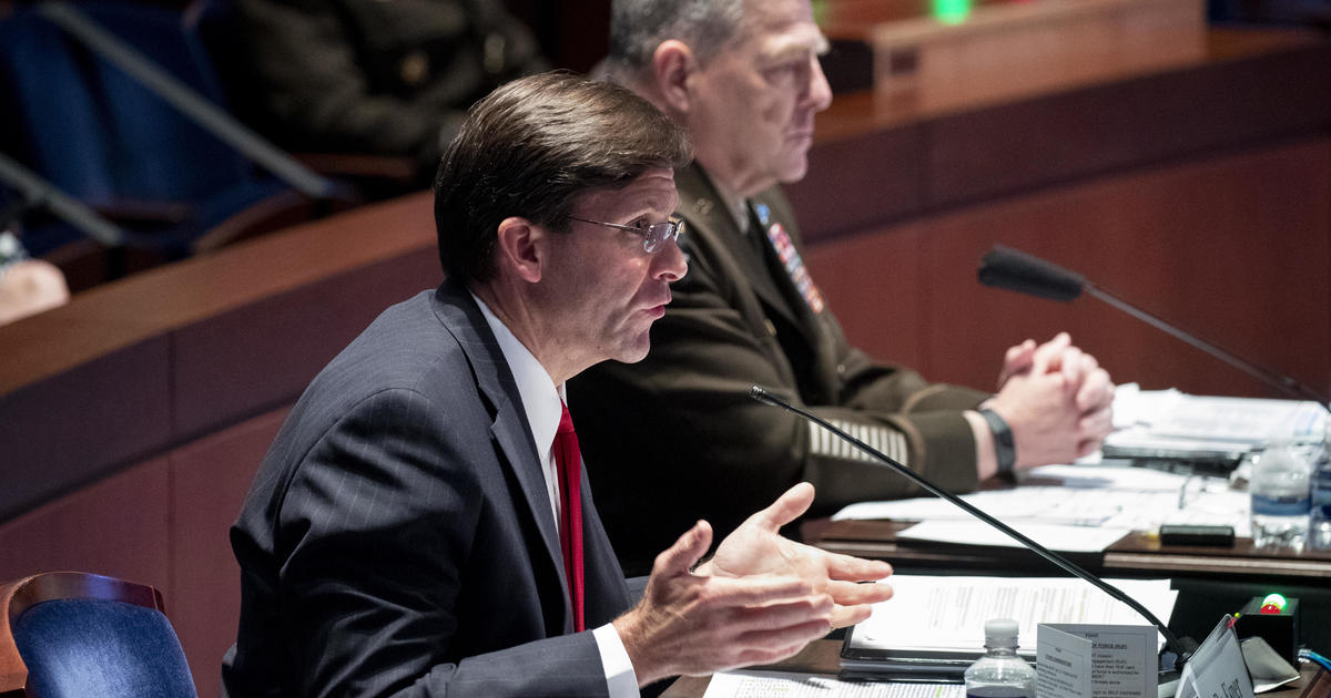 Esper defends use of National Guard in helping with civil unrest after George Floyd's death
