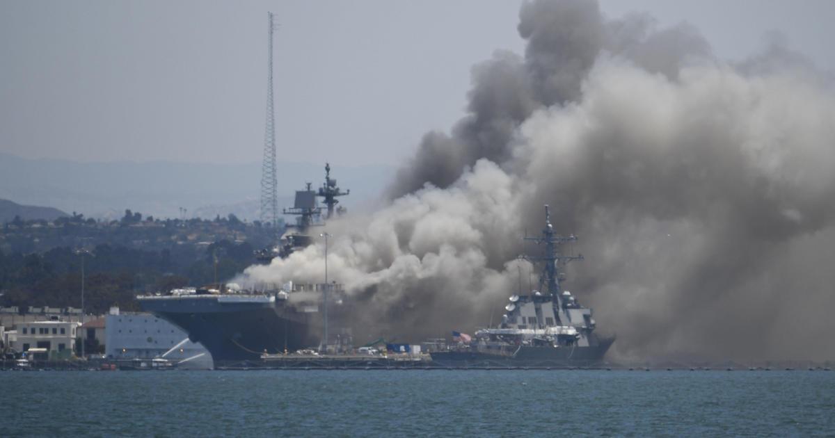 17 sailors injured in fire aboard USS Bonhomee...