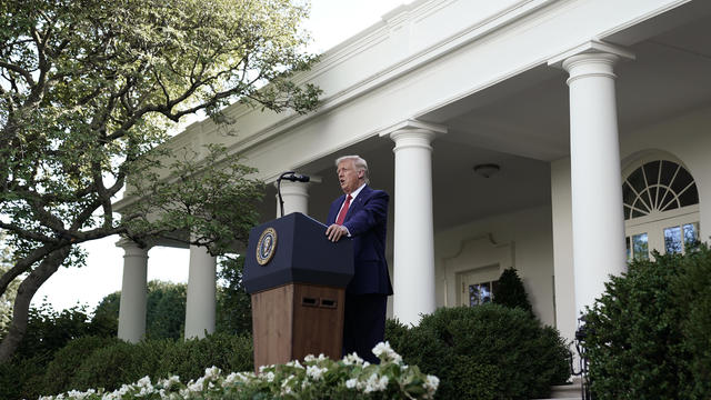 President Trump Holds A Press Conference At The White House
