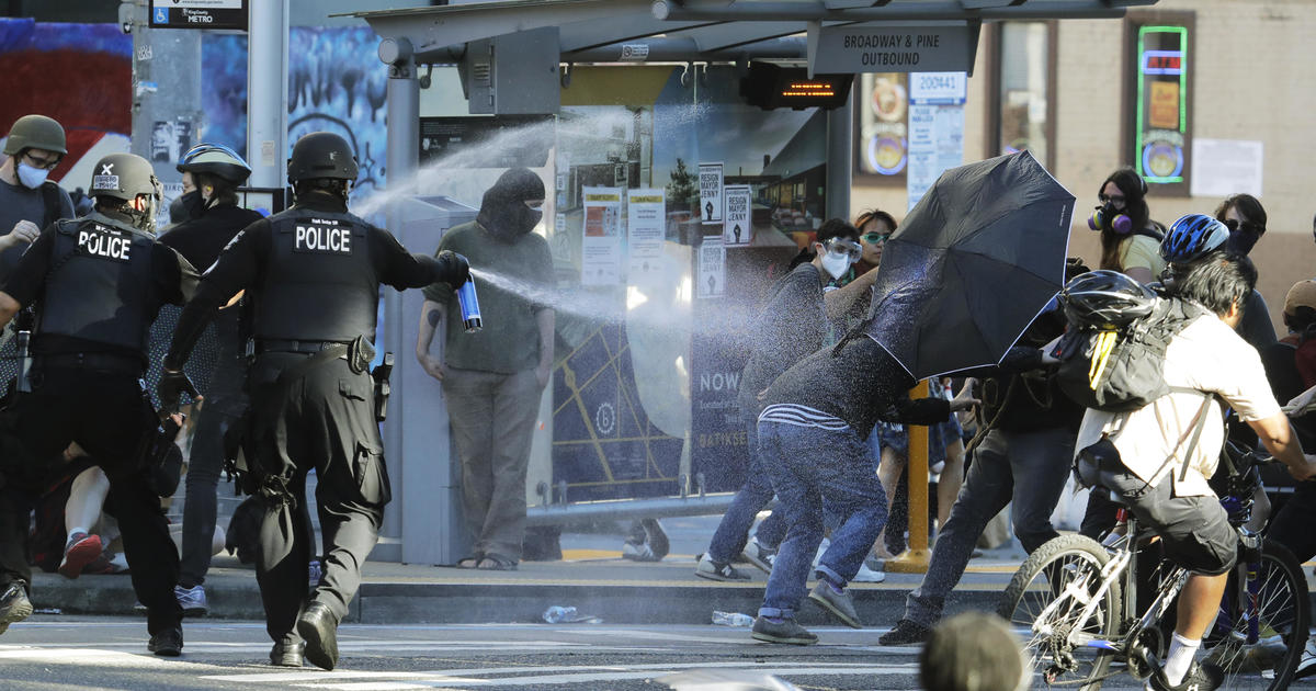 Riot declared in Seattle as protests continue – CBS News