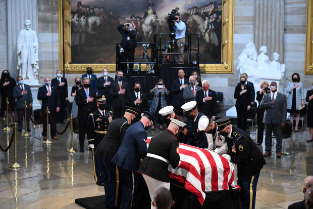 Late Rep. Lewis lies in state at the U.S. Capitol in Washington