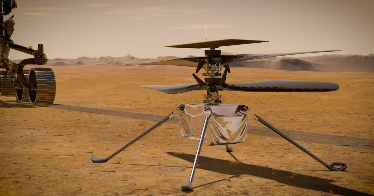 """NASA will soon try to fly a helicopter over Mars: """"It really is like the Wright brothers' moment"""" – CBS News"""