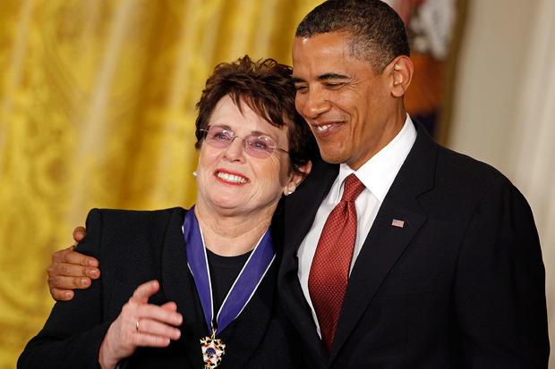 Billie Jean King Joe Biden