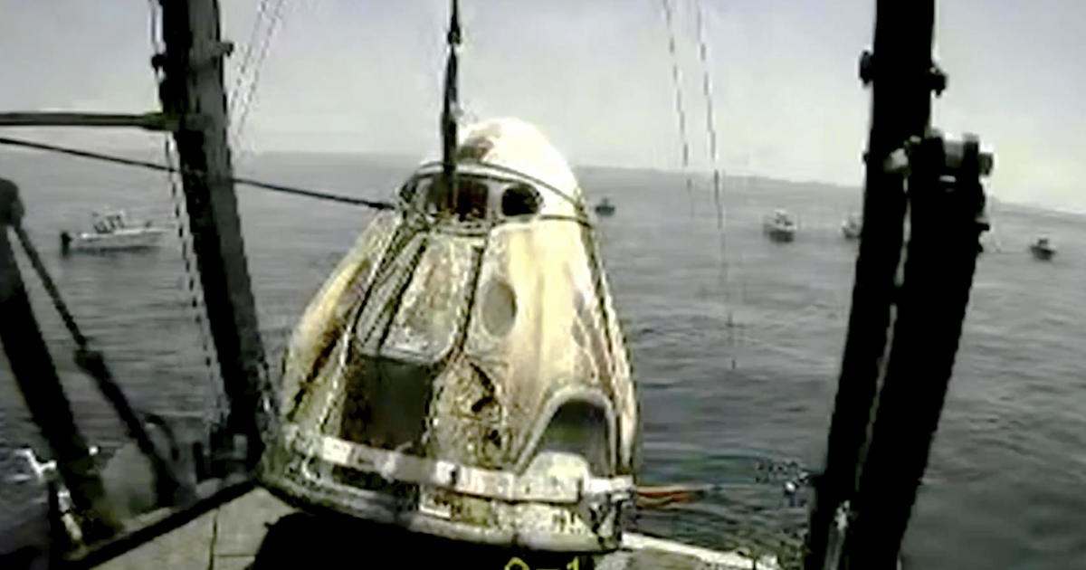 SpaceX Crew Dragon astronauts splash down in Gulf of Mexico after historic test flight