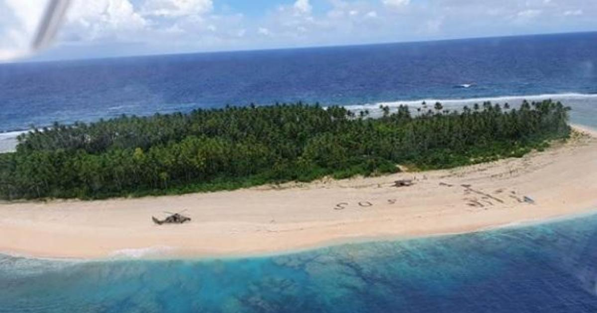 3 men rescued from tiny Pacific island after writing giant SOS in sand