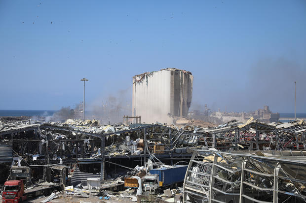 Aftermath of massive explosion at Beirut Port, Lebanon