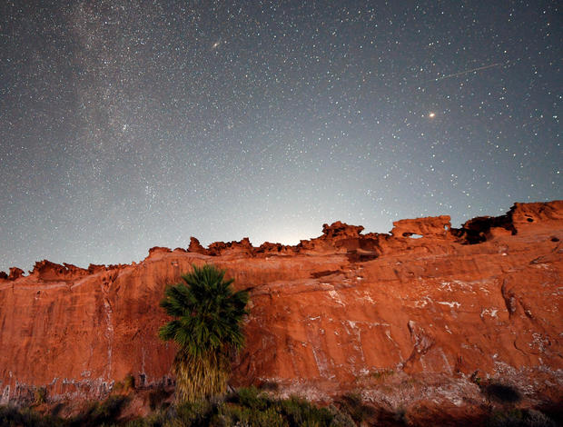 The Annual Perseid Meteor Shower From Gold Butte National Monument