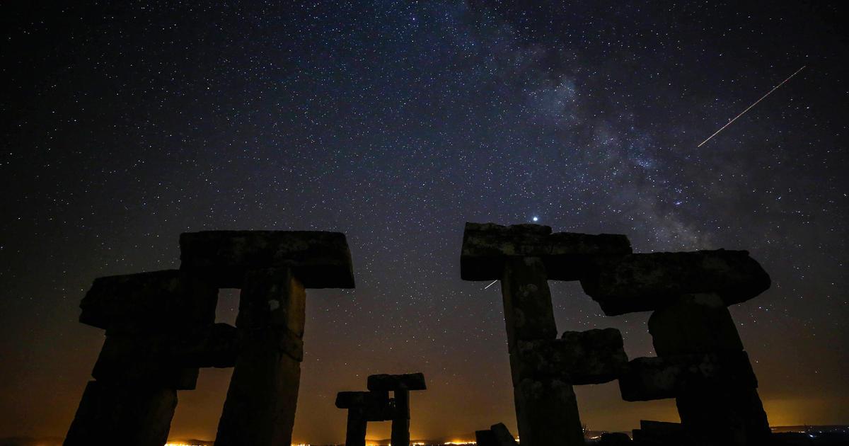 Perseids meteor shower captured in stunning photos from around the world - CBS News