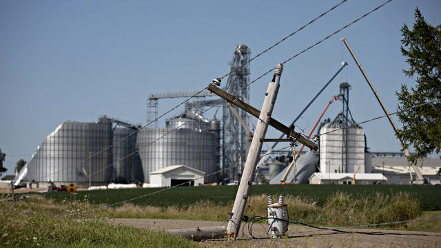Powerful Derecho Causes Widespread Damage Across Iowa Farmland