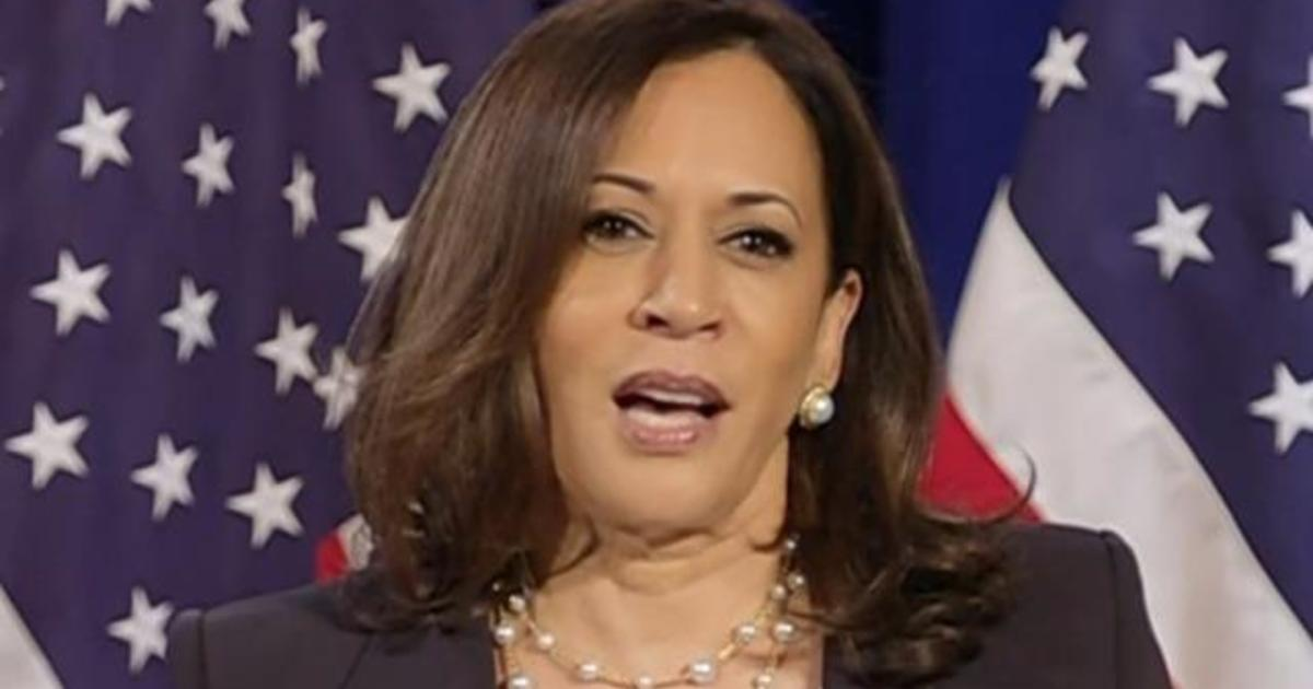 Staring Down Trump Kamala Harris Says She Stands With Protesters On Racial Equality Cbs News
