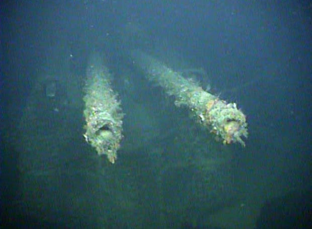 "An element of sunken German WWII warship cruiser ""Karlsruhe"" that had been observed 13 nautical miles from Kristiansand"