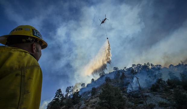 Firefighters battle the Bobcat Fire