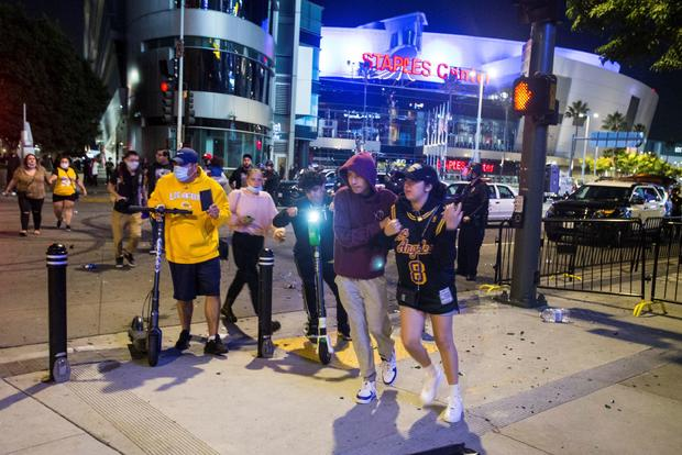 Lakers celebrate 2020 NBA Championship win in Los Angeles
