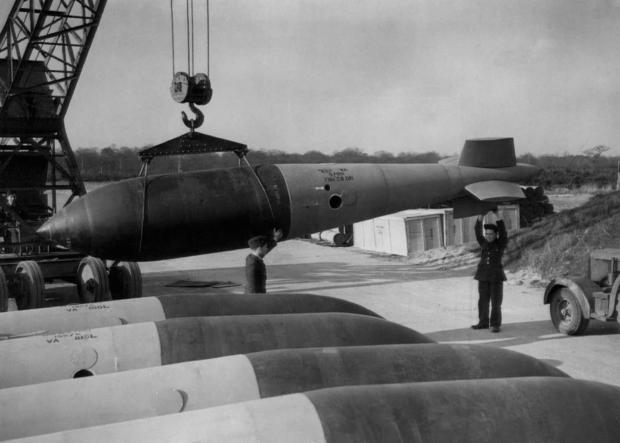 WWII England Large Bomb Dump