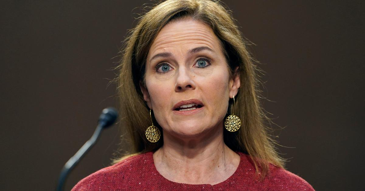 """""""I have no agenda"""": Amy Coney Barrett refuses to speculate on political issues in Senate hearings – CBS News"""