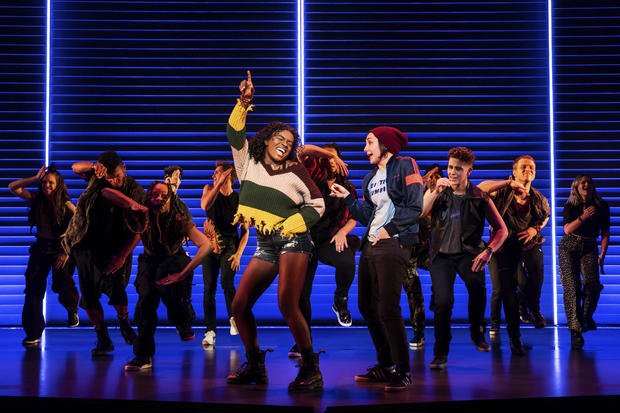 "Celia Rose Gooding, center left, is seen with the company of ""Jagged Little Pill"" during a performance in this image released by Vivacity Media Group."