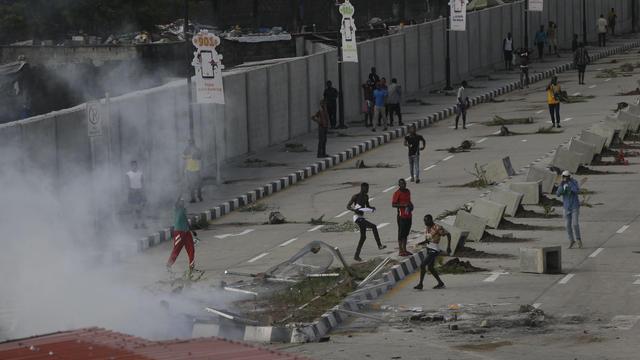 Nigeria Police Protest