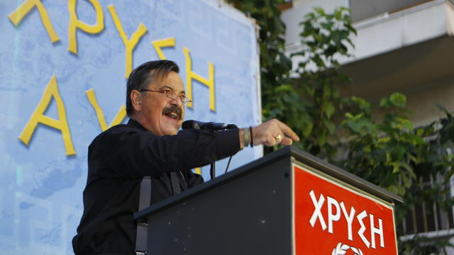 Golden Dawn MP (Member of Parliament) Christos Pappas
