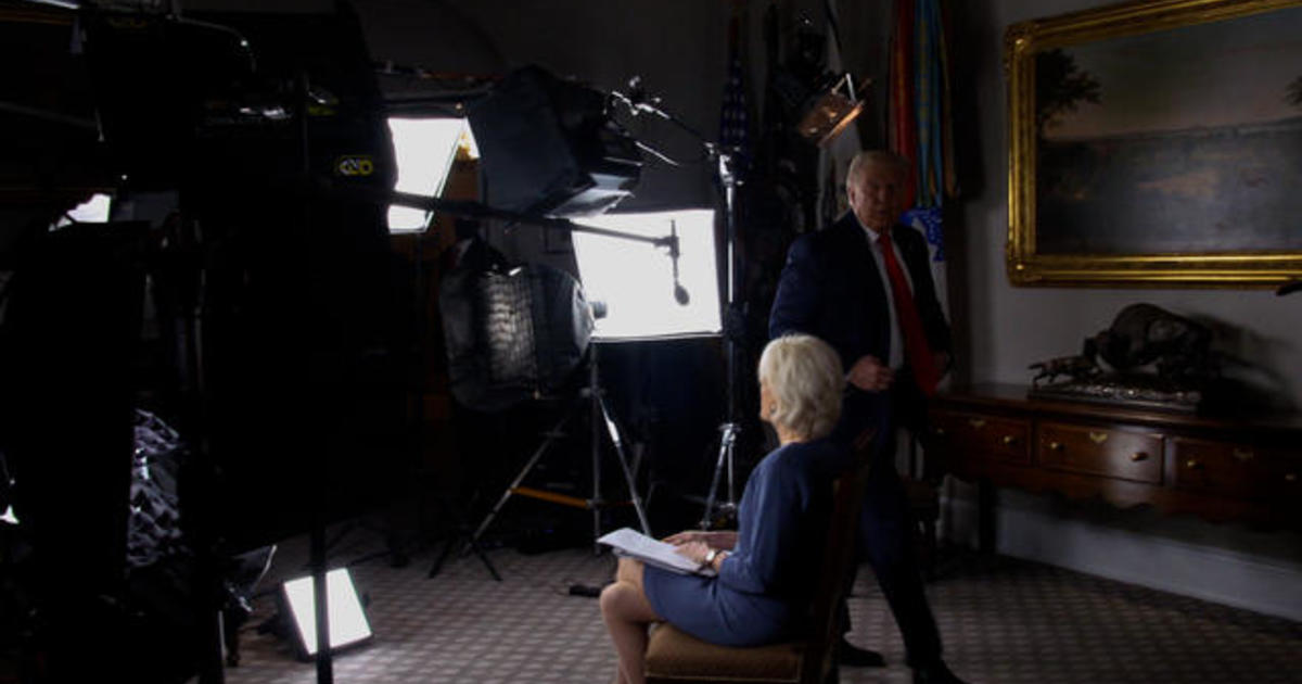 Why did Trump abruptly exit his 60 Minutes interview with Lesley Stahl?