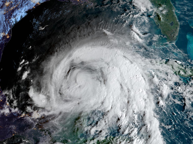Tropical Storm Zeta moves over Mexico's Yucatan Peninsula in a satellite image captured at 8:56 a.m. ET on October 27, 2020.