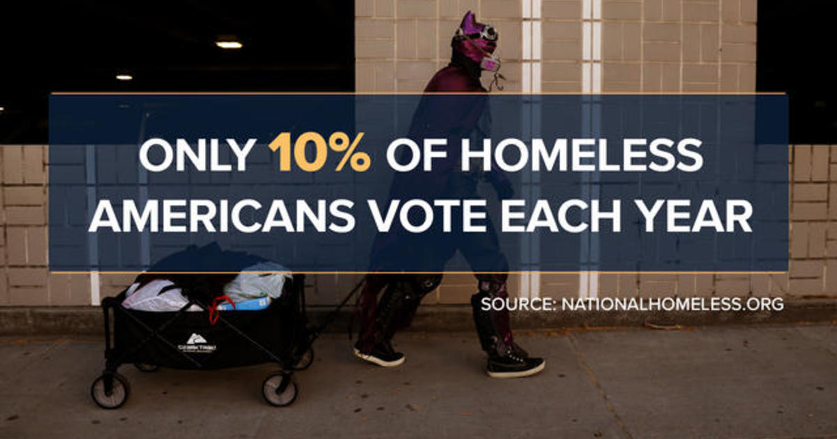 Homeless Americans face voting barriers ahead of presidential election