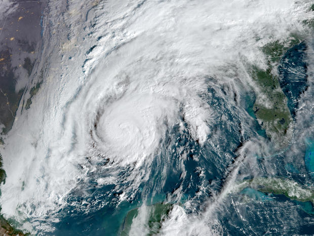 Hurricane Zeta churns in the Gulf of Mexico in a satellite image captured at 9:51 a.m. ET on October 28, 2020.