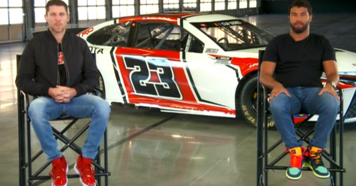 NASCAR stars Bubba Wallace, Denny Hamlin unveil new car for Michael Jordan's 23XI Racing team