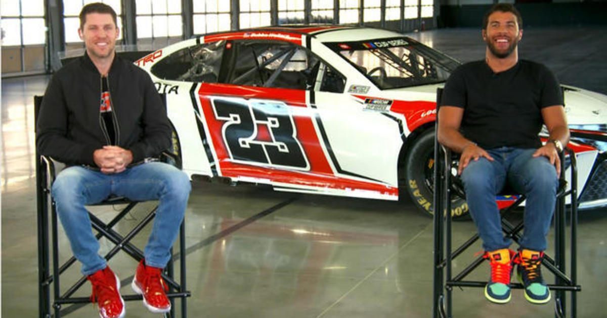 NASCAR stars Bubba Wallace, Denny Hamlin unveil race car for new 23XI Racing team