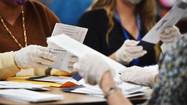 Luzerne County employees open mail-in ballots to be counted