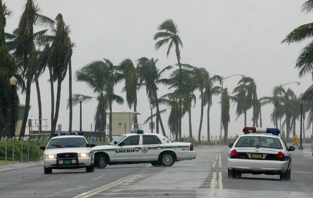 Palm Beach County sheriffs patrol on the