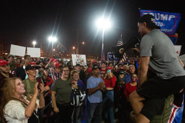 """""""Voters Rights Rally"""" Held At Arizona State Capitol As Ballots Continue To Be Counted"""