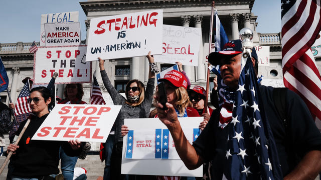 "Trump Supporters Hold ""Stop The Steal"" Protest At Pennsylvania State Capitol"