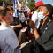 Biden and Trump supporters argue in Raleigh, North Carolina